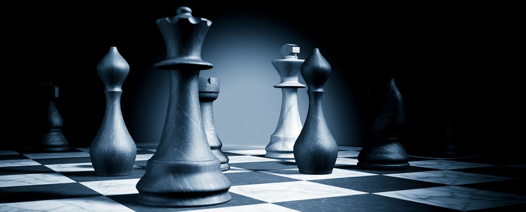 Chess Pieces Symbolizing Strategy